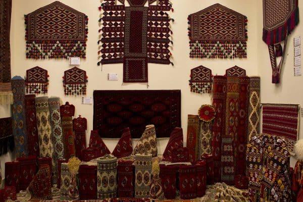 Turkmen handmade carpets with styles